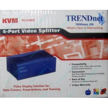 Видеосплиттер TRENDnet KVM TK-V400S (4-Port) в Чите, разветвитель видеосигнала TRENDnet KVM TK-V400S (Чита)